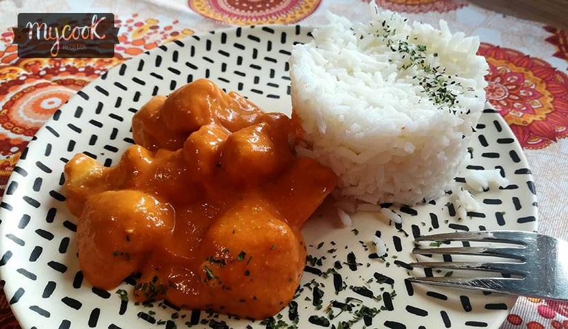 Pollo estilo hindú . Receta facilísima con tu Mycook