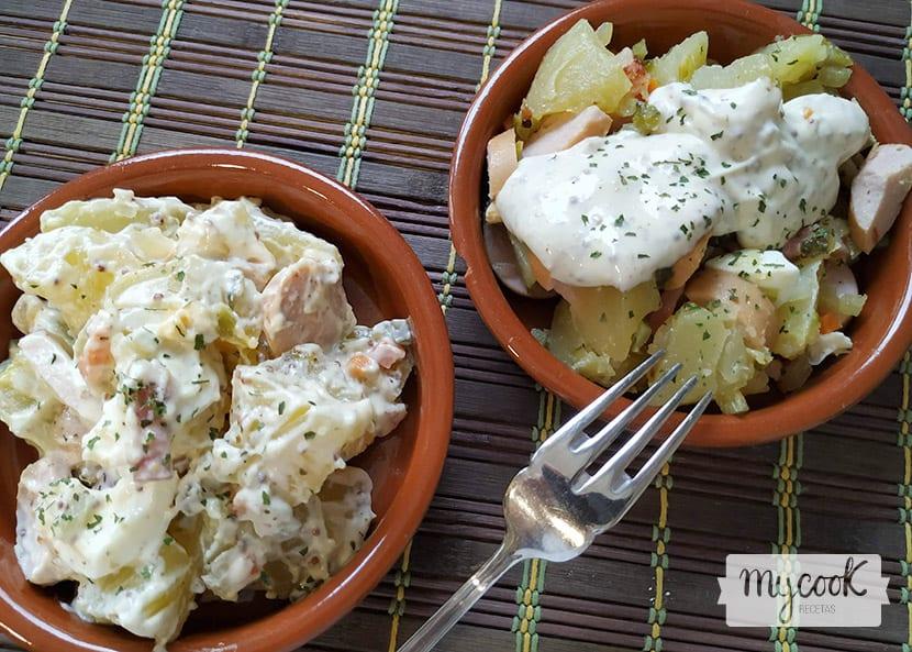 ensalada de patata estilo alemán