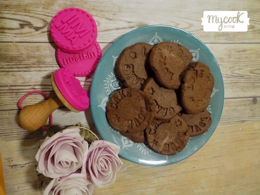 Galletas danesas de mantequilla y chocolate con Mycook