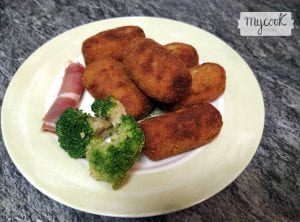 croquetas de jamon y brocoli
