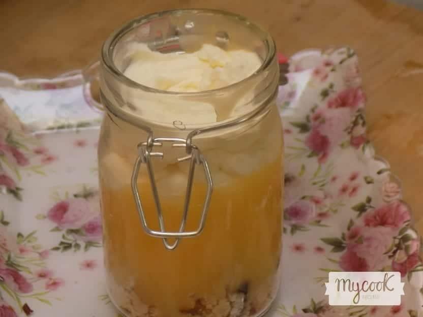 Tarta verrine de lemon curd con Mycook