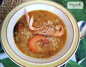 arroz caldoso de marisco