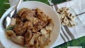 gazpacho manchego de conejo y codorniz