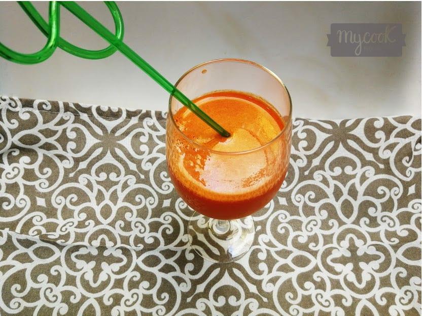 Zumo de zanahoria con Mycook