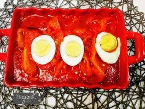 Asadillo manchego con pimientos y huevos