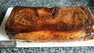 Pudding con cortezas de pan de molde