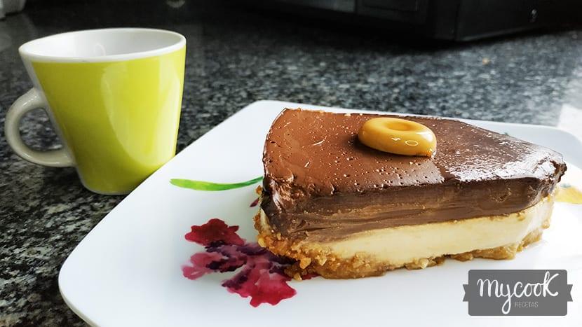 Tarta de caramelos Werther's y chocolate