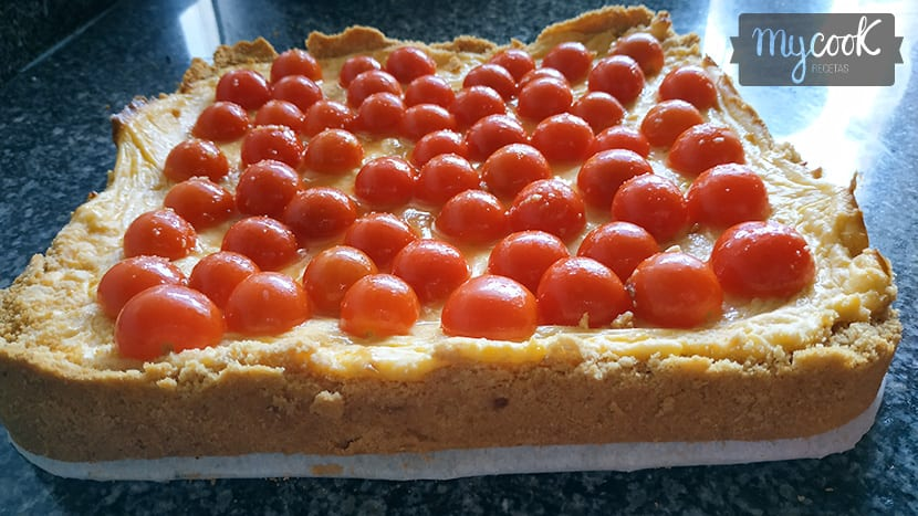 Cheesecake de tomates cherry
