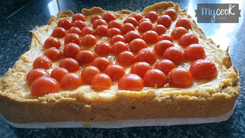 Cheesecake de tomates cherry