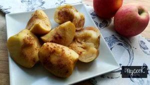 manzanas asadas al vapor