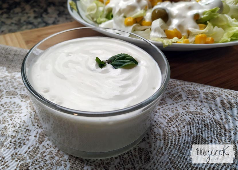 salsa de yogur y mayonesa para ensaladas