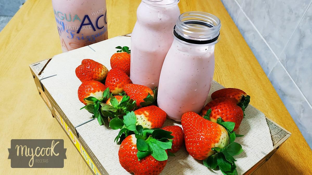Batido de fresa sin lactosa