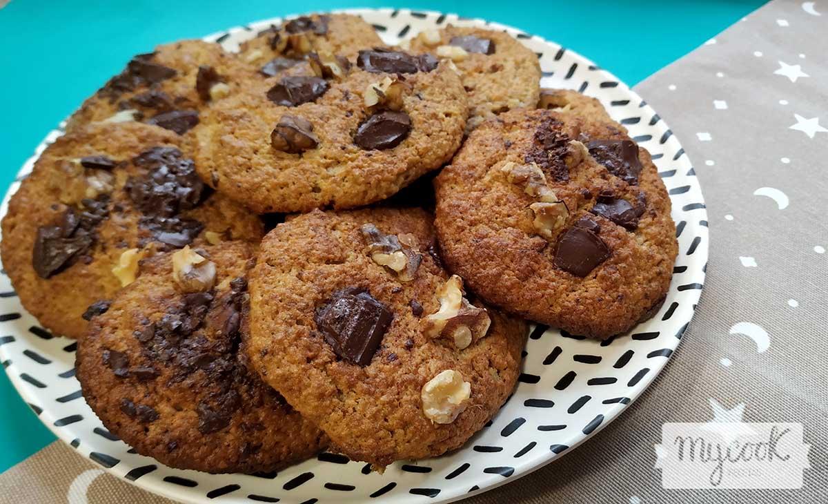 galletas de platano, avena y chocolate
