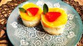 Mini tartas de queso y mango