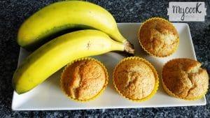 Magdalenas de plátanos maduros