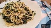 espaguetis-con-espinacas-champiñones-y-gambas