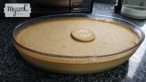 Flan de galletas María