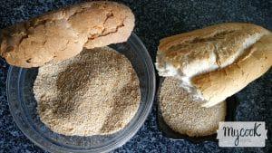 Pan rallado de hogaza o de barra