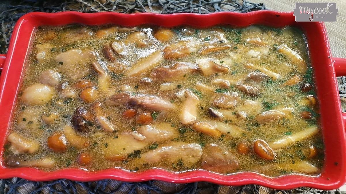 Champiñones en salsa con Mycook