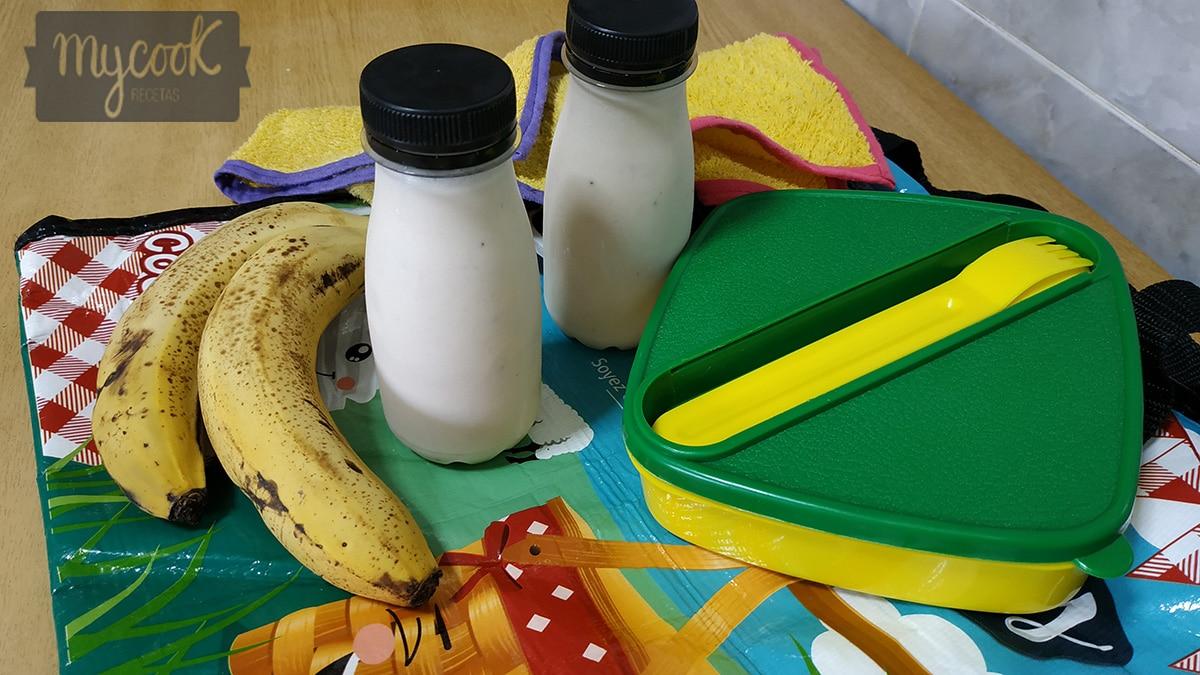 Yogur líquido de fresa sin lactosa
