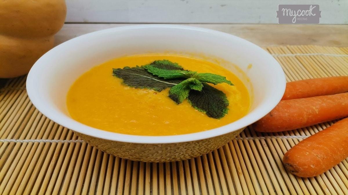 Crema de zanahorias y calabaza con Mycook