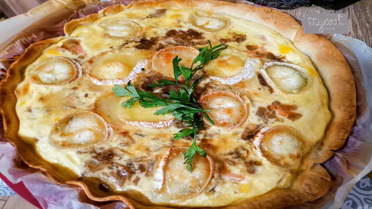 Quiche de salmón ahumado y queso de cabra con Mycook