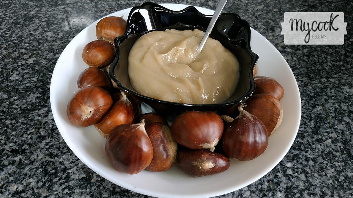 Crema salada de castañas