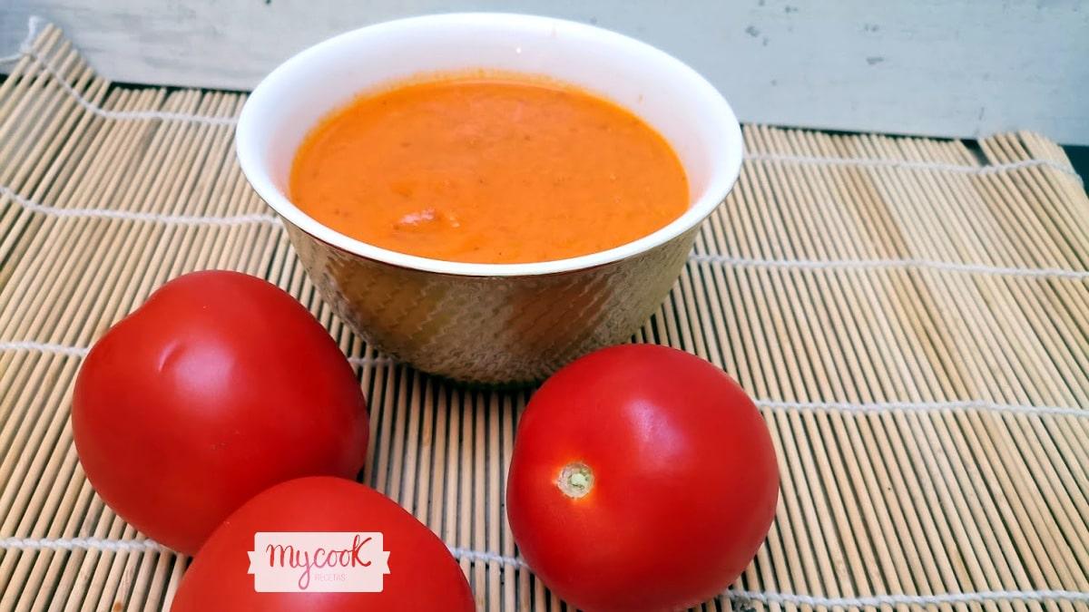 Salsa de tomate concentrado con Mycook