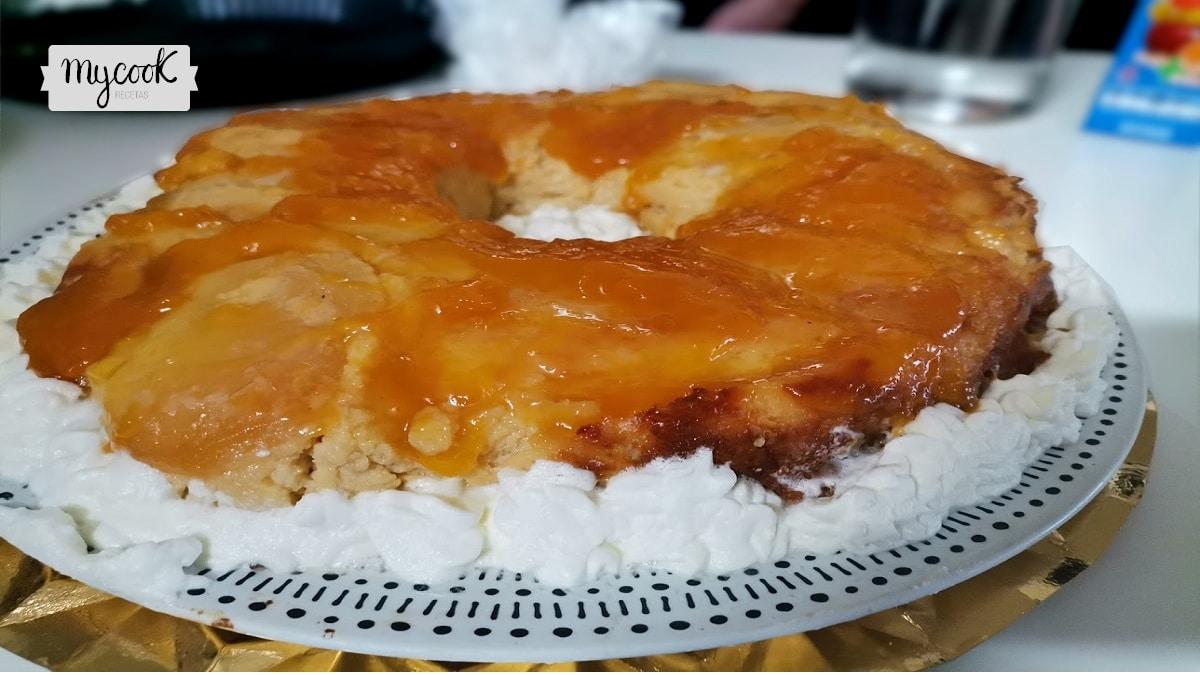 Tarta crema de manzana