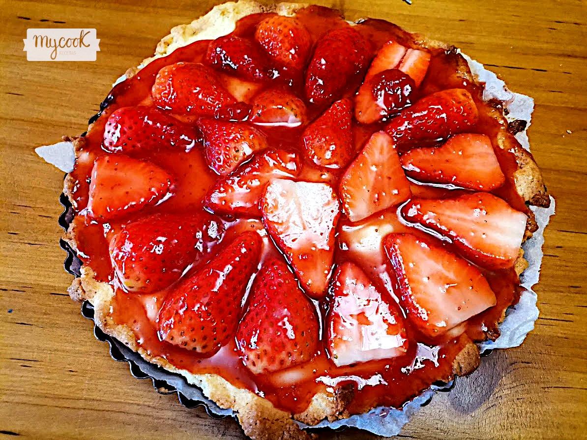 Tarta de fresas con Mycook
